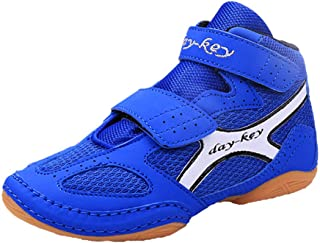 Kids' Boxing Boots, Boy Girl Wrestling Combat Training Shoes Rubber Sole Martial Arts Shoes Lightweight Breathable