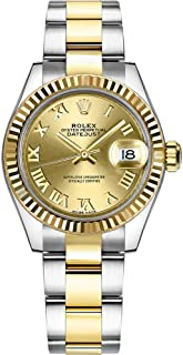 Women's Rolex Lady-Datejust 28 Champagne Roman Numeral Dial Watch Ref. 279173
