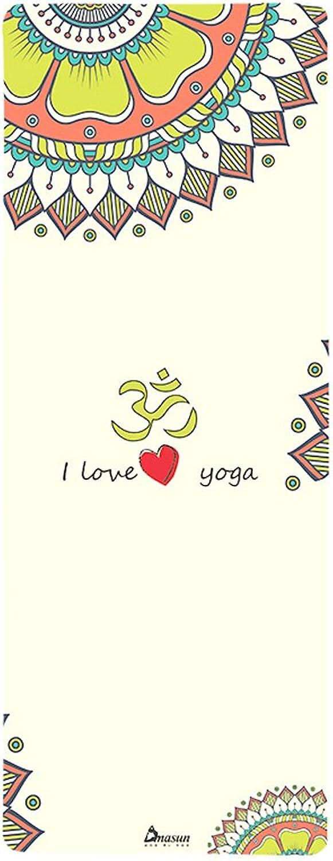 Lily Gedruckte Gummi-Yoga-Matte, doppelseitige Rutschfeste Fitness-Matte, 4mm Yoga Decke, 183  66 cm