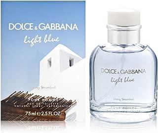 Dolce and Gabbana Light Blue Living Stromboli Pour Homme Eau de Toilette Spray for Men, 2.5 Ounce