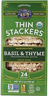 Lundberg Organic Thin Stackers, Basil & Thyme, 6 Oz, Gluten-Free, Vegan, Kosher, Usda Certified Organic, Non-Gmo Verified,...