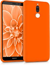 kwmobile TPU Case Compatible with Huawei Mate 10 Lite - Soft Flexible Protective Phone Cover - Neon Orange