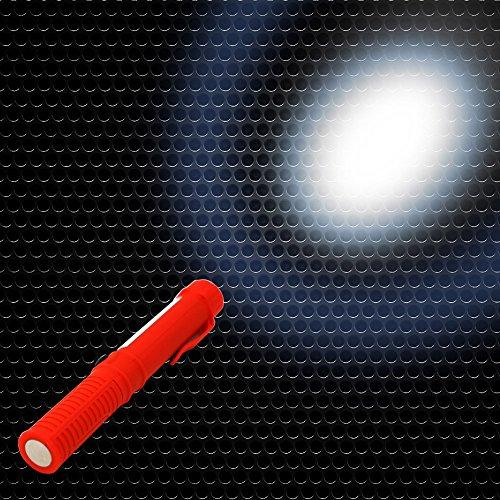 kashyk Torche LED Lampe de Vélo,Super Grande Lampe de Torche,16.6x2cm Clip Torche Mini LED Pen Light à avec Pen Lampe de Poche,pour Trouver Les Taches sur Les Vêtements/Moquettes/Tapis