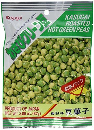 Kasugai Roasted Hot Wasabi Flavor Green Peas (Japanese Import)