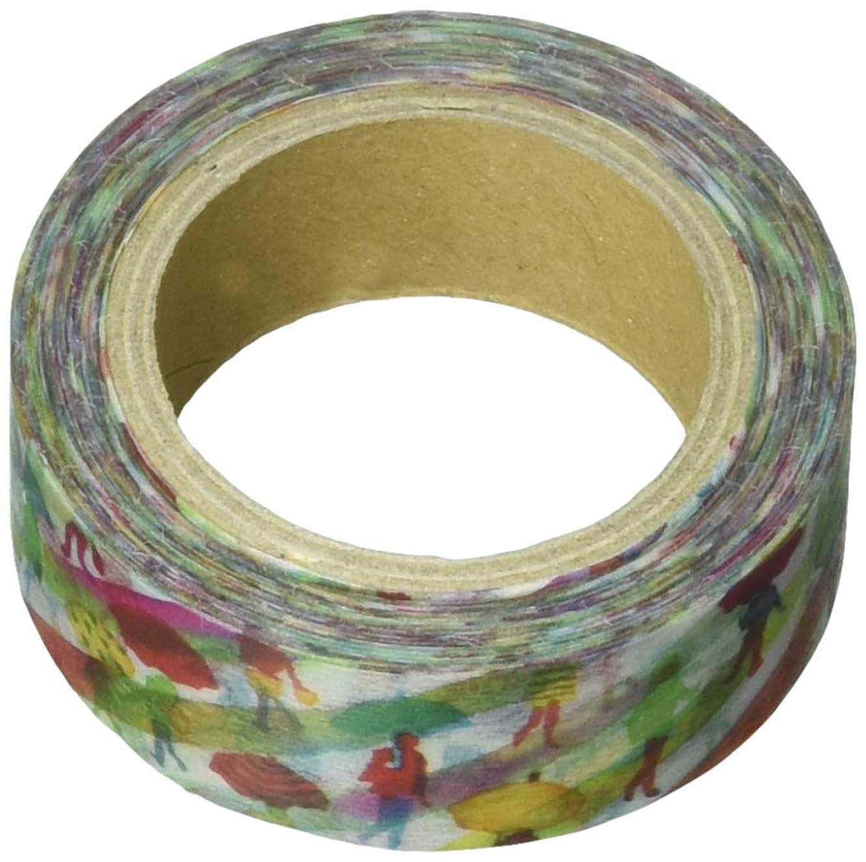 Roundtop Designer's Washi Masking Tape 15mm x 10m, Space Craft Decoration, Cross Walk (SC-MK-028)