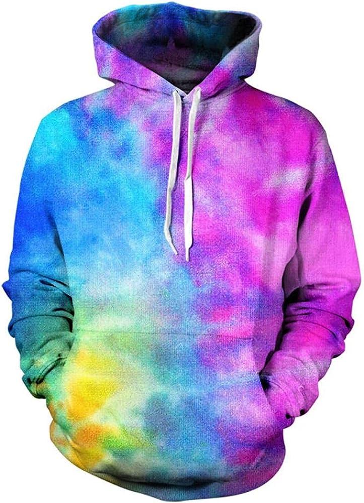 Men's Tie Dye Hoodie Long Hooded Casual Sleeve Indianapolis Mall sweatshi Award-winning store Pullover