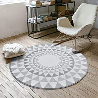 Area Rugs Carpets Gray Series Round Carpets for Living Room Computer Chair Area Rug Children Play Tent Floor Mat Cloakroom...