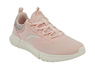 Anta Chunky Contrast Sole Printed Tongue Lace-up Running Shoes For Women - Baby Pink, 38.5 EU