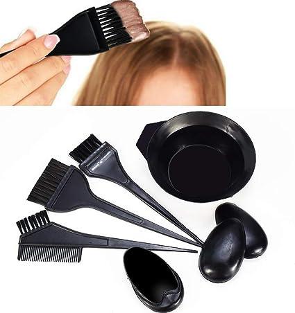 Ownest - Juego de 5 tintes profesionales de peluquería para colorear el cabello, tinte para el cabello, cepillo de tinte para el cabello, para decorar ...