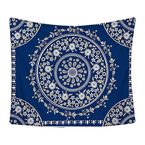 Topchances Tapiz Tapiz de pared, Mandala Tapiz de pared, Indian Single Hippie Bohemian Floral Tapestry Decoraciones de hogar para dormitorio, sala de estar