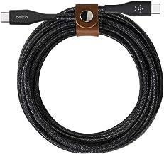 Belkin cable USB-C a USB-C con correa Boost Charge (resistente cable USB-C para MacBook, iPad Pro, Samsung Galaxy, Pixel y...