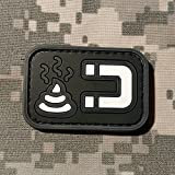 NEO Tactical Gear Shit Magnet Morale Patch - PVC Rubber Morale Patch, Hook Backed