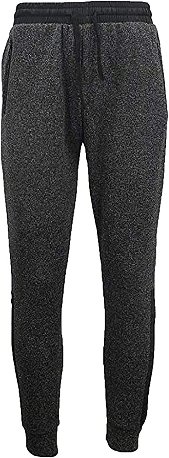 Sweatpants for Mens Relaxed Straight-Fit Wild Work Cargo Pants Classic-fit Solid Trousers with Elastic Waist Drawst