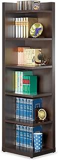 Corner Bookcase with Open Side Cappuccino