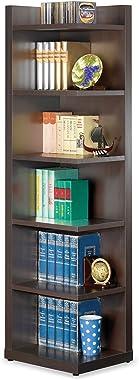 Coaster Home Furnishings CO-800270 Corner Bookcase, Cappuccino