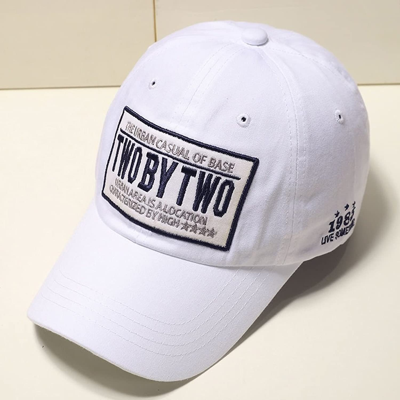 CJH Men and Women Summer Outdoor Trend Caps Casual Hip Hop Street Visor Baseball Cap White