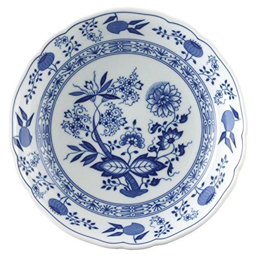 Hutschenreuther 02001-720002-13151 Zwiebelmuster Salatteller, 19 cm, tief, blau