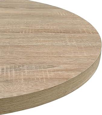 vidaXL Table de Bistro MDF et Acier Rond Table Haute Cuisine Bar Intérieur