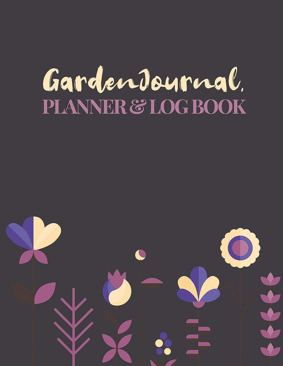 征服キャンパス篭Garden Journal, Planner & Logbook: Blank Gardening Log Book To Write In Your Own Plant Care Ideas and Planting Schedule Organizer