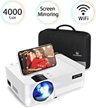$110 » VANKYO Leisure 470 Mini Projector with Synchronize Smart Phone Screen, Full HD 1080P Supported and 250'' Display, 4000 Lux WiFi Portable Projector Compatible with TV Stick, PS4, HDMI, VGA, TF, AV, USB