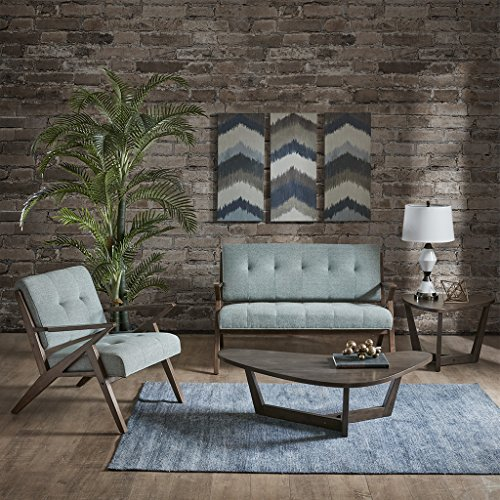 Ink+Ivy Rocket Accent Loveseat - Solid Wood, All Foam Two Deep Seat Settee Mid-Century Short Sofa - Retro Accent Loveseat For Living Room