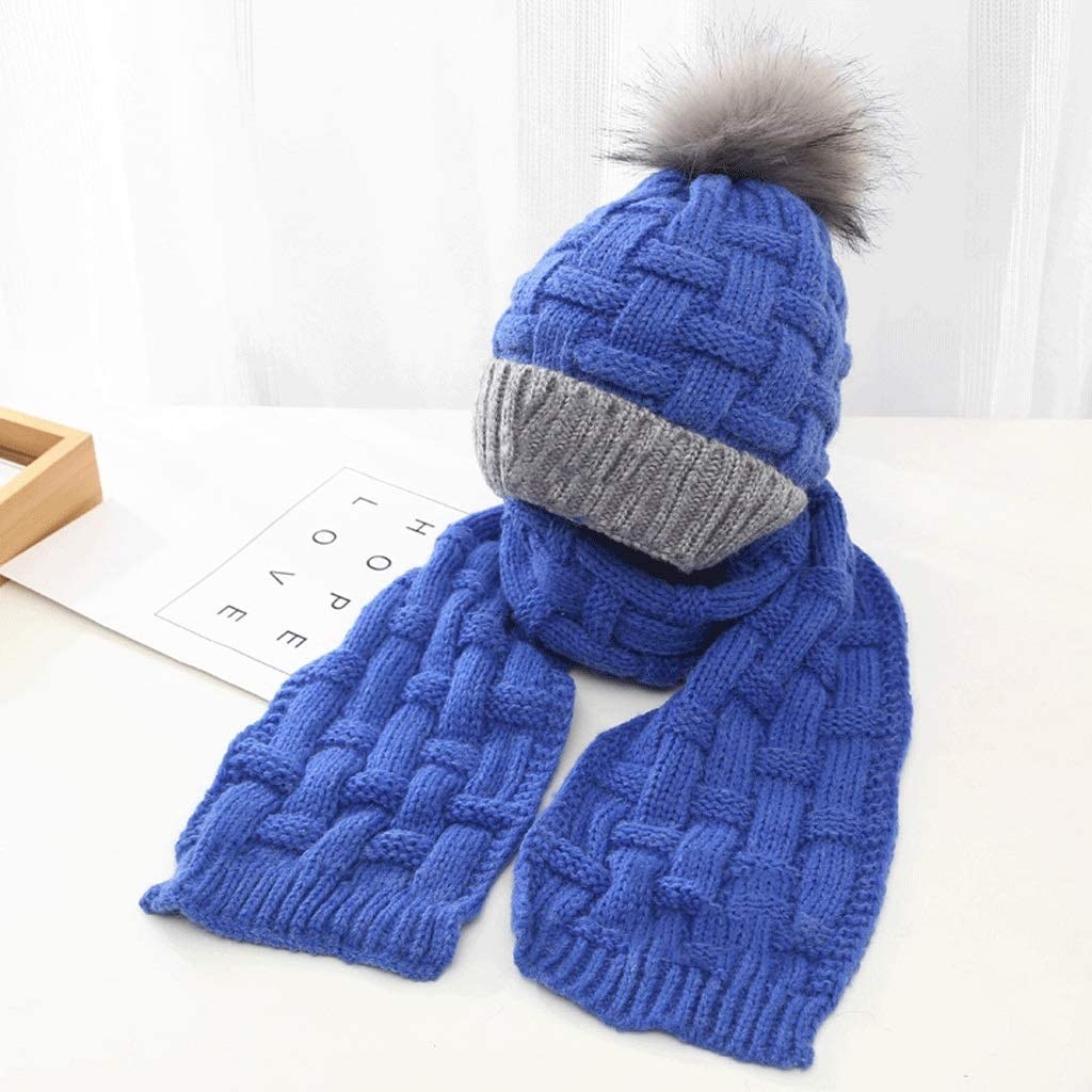 Max 60% OFF JJSPP Winter Soft Knit Hat Baltimore Mall Scarf Set Thickened Kids Bean Novelty