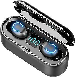 Moniel F9-8 F9-8 intra-auriculares BT com redução de ruído estéreo Fone de ouvido à prova d'água sem fio com display digit...