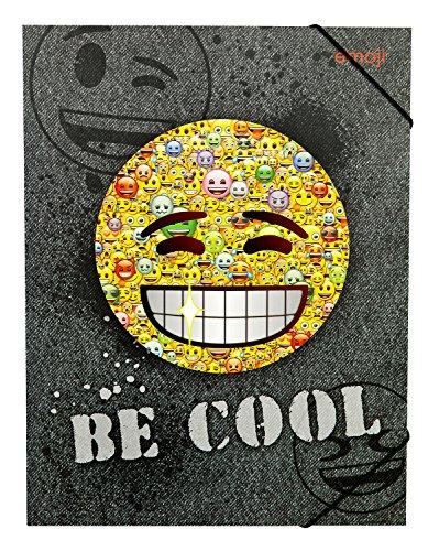 Undercover EMCA0300 - Gummizugmappe A4, Emoji