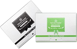 2 Pack Oil Blotting Sheets, Natural Bamboo Charcoal Oil Absorbing Sheets, Green Tea Oil Blotting Papers for Face to Remove Excess Oil, 200 Sheets