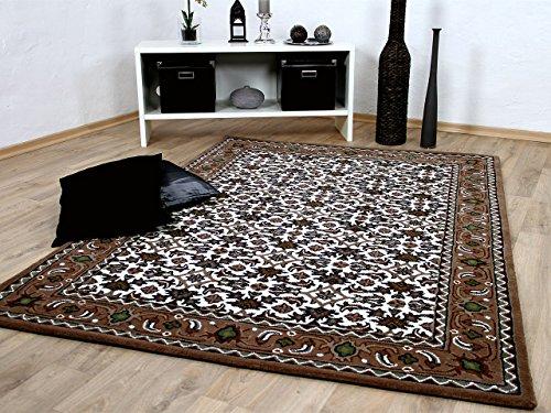Theko Natur Orientteppich Royal Beige Braun Herati in 8 Größen