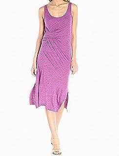 Alternative Purple Womens Large L Scoop-Neck Gathered Sheath Dress