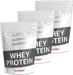 アルプロン ナチュラルホエイプロテイン100 無添加 1kg【約50食】× 3個セット
