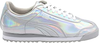 PUMA Unisex-Child Boys Girls 36831001 4 M US Big Kid Silver/White