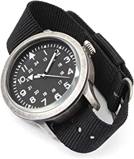 Mil-Tec British Forces Army Style Stainless Steel Watch Military NATO Waterproof Nylon Strap Quartz Wristwatch