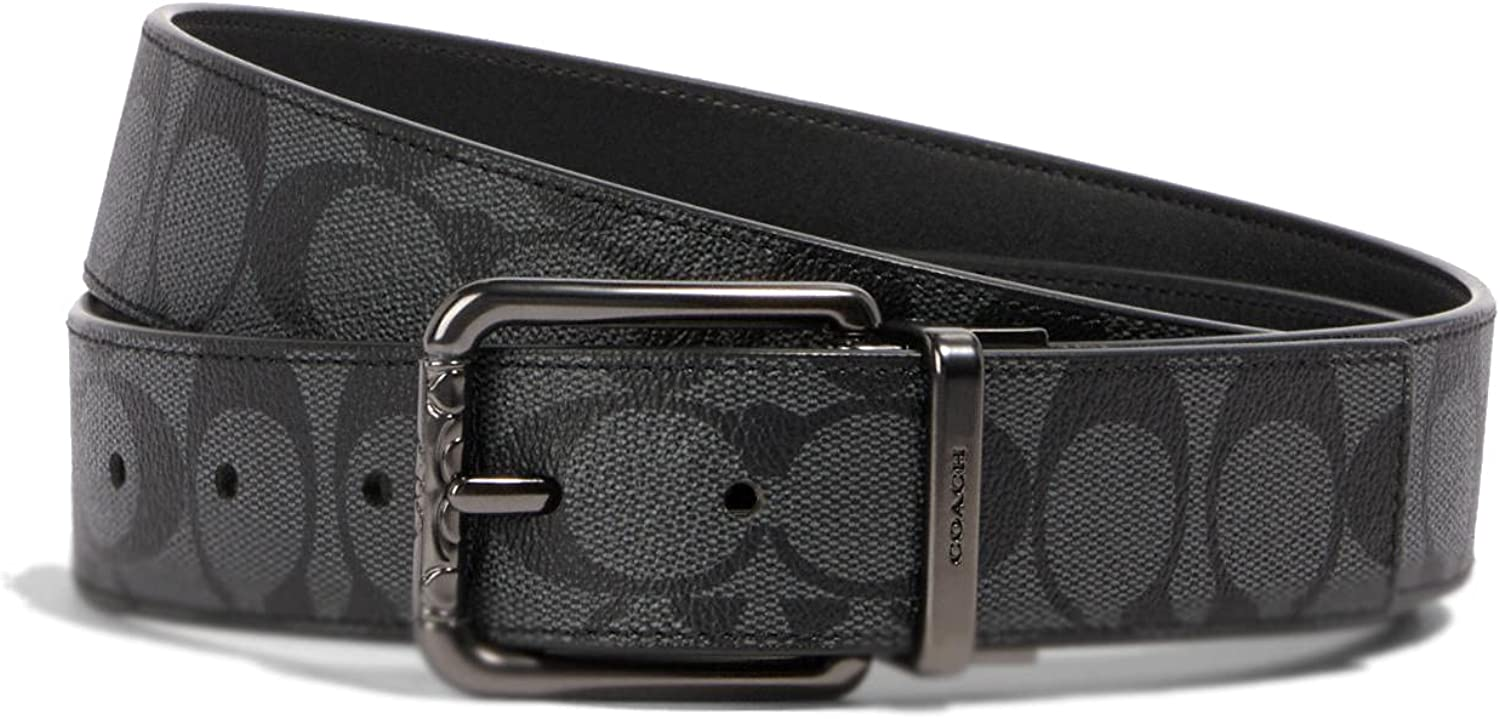 Coach Mens Harness Buckle Cut-To-Size Reversible Belt, 38mm