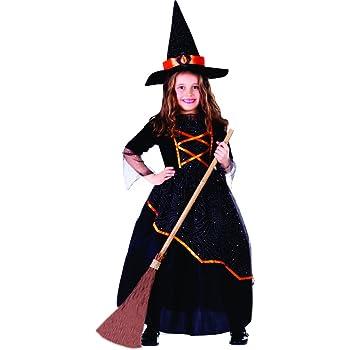 Dress Up America Disfraz de Bruja niña Negro y Naranja: Amazon.es ...