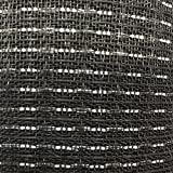 Speaker Grill Cloth Fabric Black and Silver per Yard 36' Wide