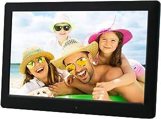 HUALEIYUAN AU IPS 10 inch Digital Picture Photo Frame Full-View Screen Photo Album 1280x800 Clock Calendar Video Player Di...
