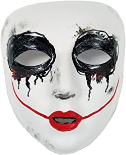 Smiley Similar Purge Scary Masquerade Mask for Men and Women White