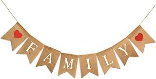 Family Bunting Banner Family Reunion Photo Prop Party Banner for Home Decoration Family Party
