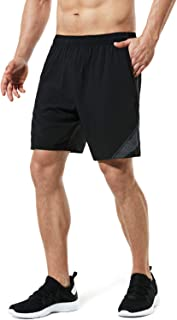 Tesla Men's Running Shorts Quick Dry Mesh Liner Jogging Training 7""