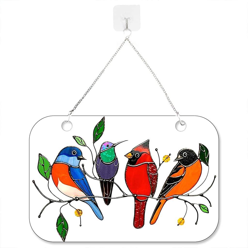 YEZININHAO Sun Catcher - Max 67% OFF Colorful Sign Window fo Birds Ornaments Popular brand
