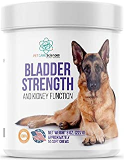 PET CARE Sciences Bladder Strength and Kidney Function Chews Naturally Derived Dog UTI Treatment Made in The USA