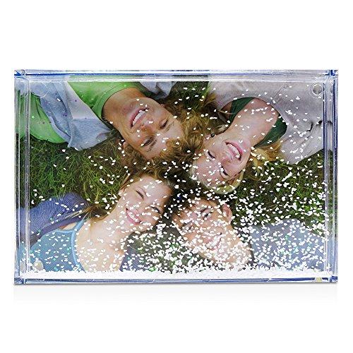 LolaPix - Marco Nieve Personalizado con tu fotografia, Texto o diseño. Tamaño de la Foto 10x15cm, Original y Exclusivo. Varios Modelos a Elegir.