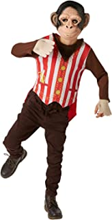 (Ages 5-6 Years) - Rubie's Official Mr Monkey Fancy Dress Boys Circus Fairytale Book Week Day Kids Childs Costume (620735M)