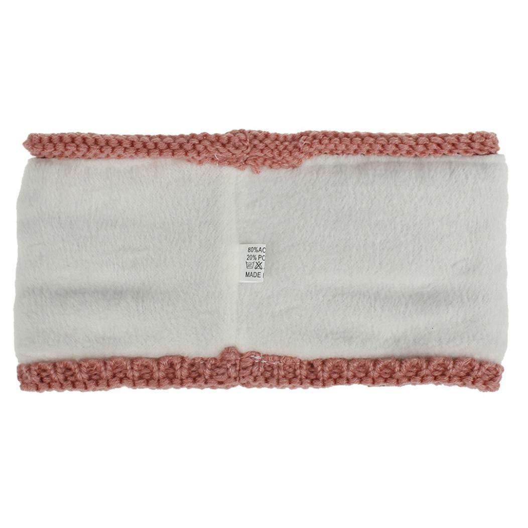 Womens Winter Ear Warmer Headband - Warm Winter Cable Knit Headband, Soft Stretchy Thick Fuzzy Headwrap Earwarmer (01-Black)