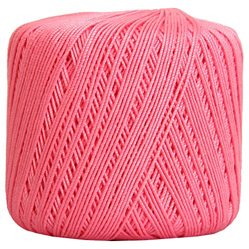 Threadart 100% Pure Cotton Crochet Thread - Size 3 - Color 34 - PINK -2 sizes 27 colors available