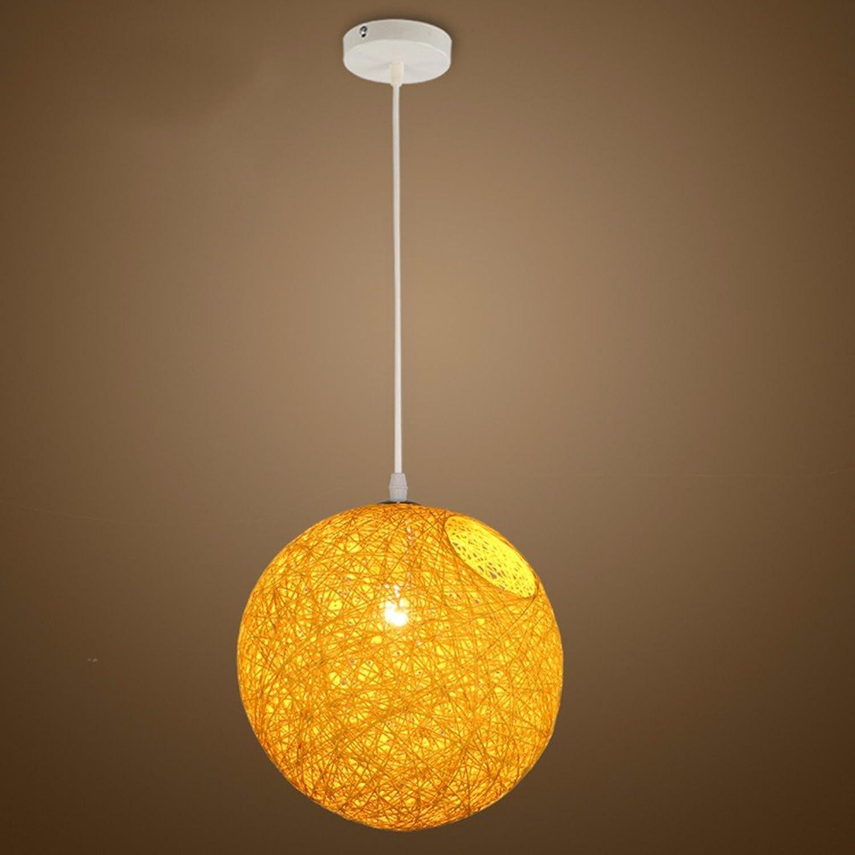 LighSCH Pendelleuchten Kronleuchter Die Kommission Kugel kreative Persnlichkeit das Restaurant Bar Gelb Beleuchtung einstellbar Durchmesser 35cm