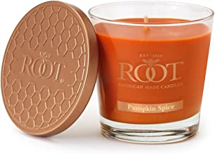 Root Candles Honeycomb Veriglass Scented Beeswax Blend Candle, Small, Pumpkin Spice