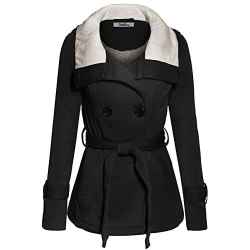 5f9c8a6a BodiLove Women's Stylish and Warm Peacoat with Sherpa Lining